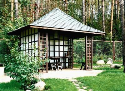 Садовая беседка в Японском стиле