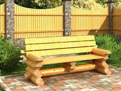 Скамейка для беседки