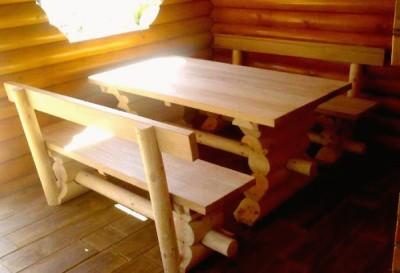 Скамьи и стол для беседки