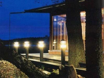 Ландшафтный дизайн освещение